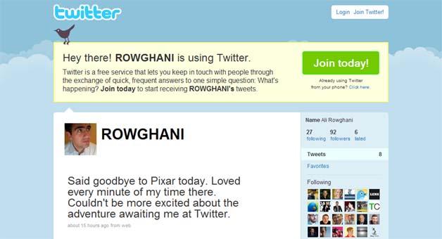 Twitter Puts Pixar's CFO On Payroll