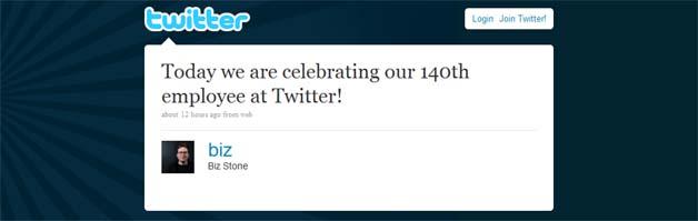 Twitter Reaches 140-Employee Milestone