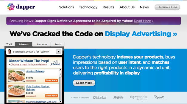 yahoo acquires display ad specialist dapper - Online Advertising Specialist