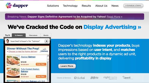 Yahoo Acquires Display Ad Specialist Dapper