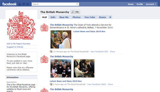 Official British Monarchy Page Launches On Facebook