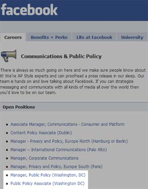 Facebook To Position Public Policy Experts In D.C.