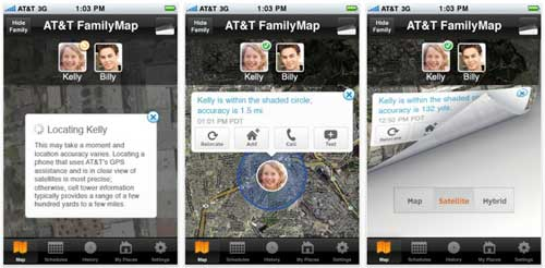 AT&T Launches FamilyMap For iPhone
