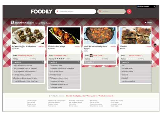 Recipe search engine goes social with facebook forumfinder Gallery