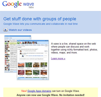 Google Wave Released To Everyone