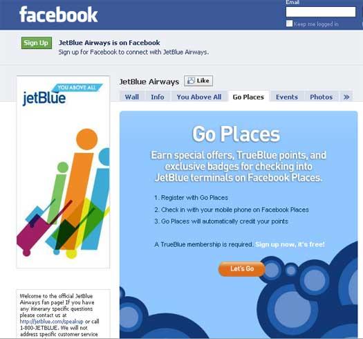 jetblue launches facebook deal app