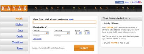 Kayak Adds Hotel Booking Option