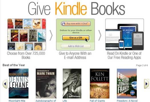 Give Kindle Books As A Gift Via Email