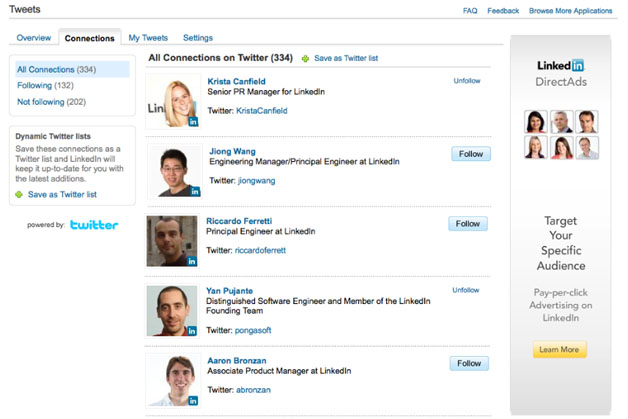 LinkedIn Tightens Integration With Twitter