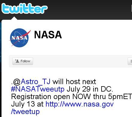 NASA-Live-Tweets