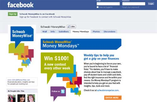 Schwab Launches Financial Advice Page On Facebook