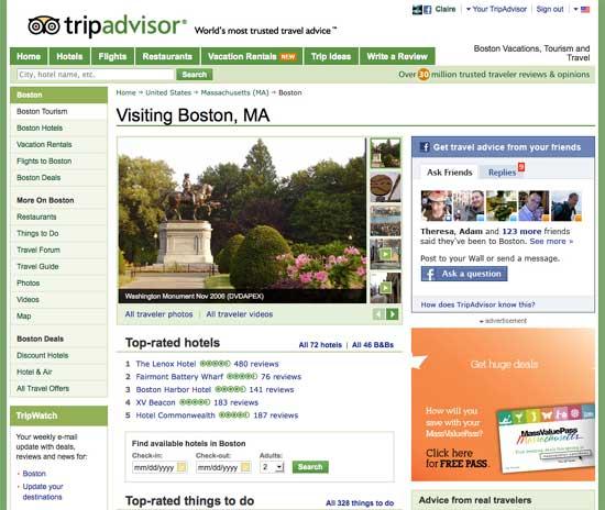 TripAdvisor Goes Social With Facebook
