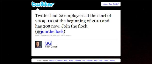 Twitter Crests 200-Employee Mark