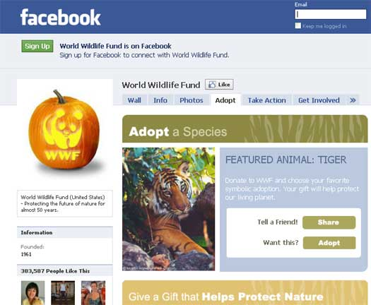 WWF Launches Gift Catalog On Facebook