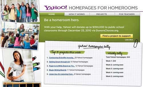Yahoo-Homepages