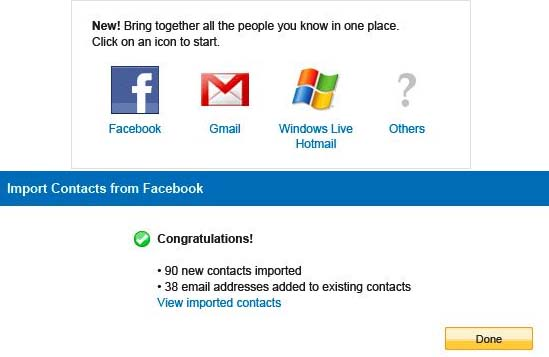 Yahoo Adds Facebook Contact Import Ability