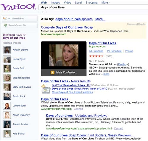 Yahoo Makes Strides In Entertainment Search