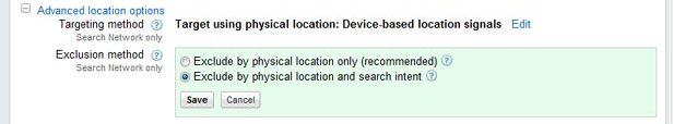 Advanced Location Options in AdWords