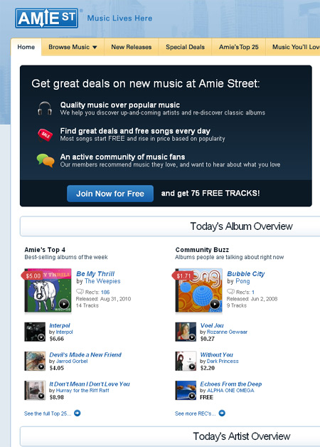 Amie Street goes to Amazon