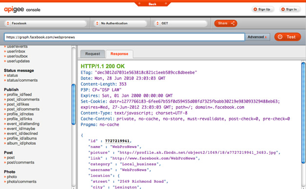 Apigee Launches New Facebook API Console