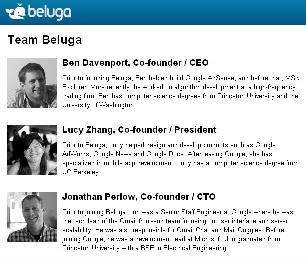 Beluga Team - They Used to Work for Google