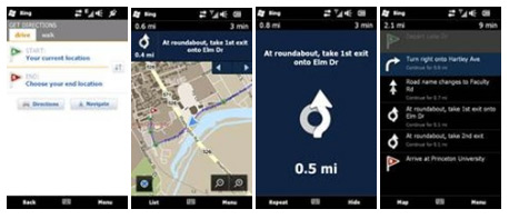 Bing app updates for windows phone - navigation feature