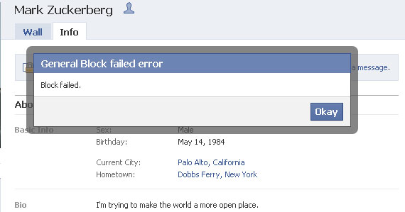 You Can't Block Mark Zuckerberg From Your Facebook Profile