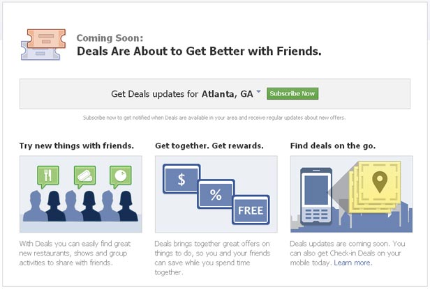 Facebook Deals - More in Store - Watch Out Groupon, Fousquare