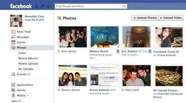 Facebook Left Menu
