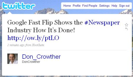 Fast Flip tweet
