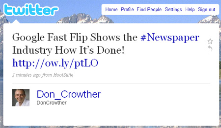 Google Fast Flip Goes Mainstream