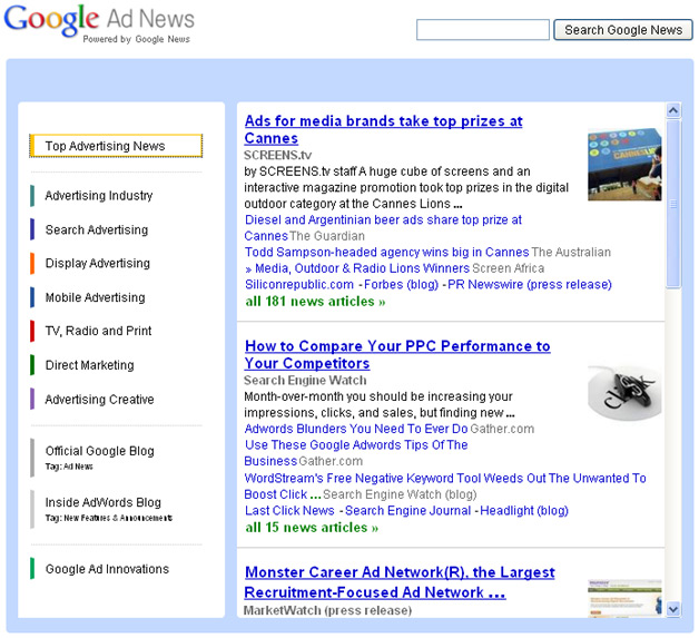 Google Ad News