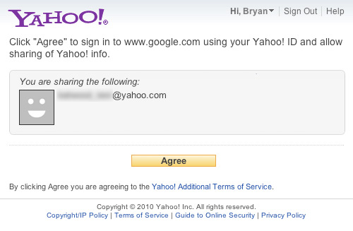 Sign in with Yahoo