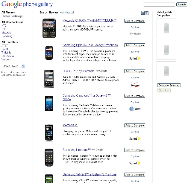 Google Phone Gallery