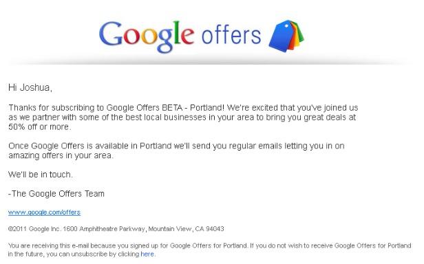 Google Offers Beta Goes Live