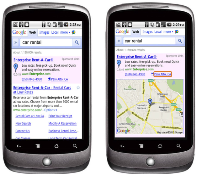 Hyperlocal Mobile Ads from Google