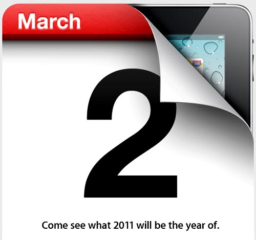 Apple Event for iPad 2 launch coming to San Francisco on March 2nd