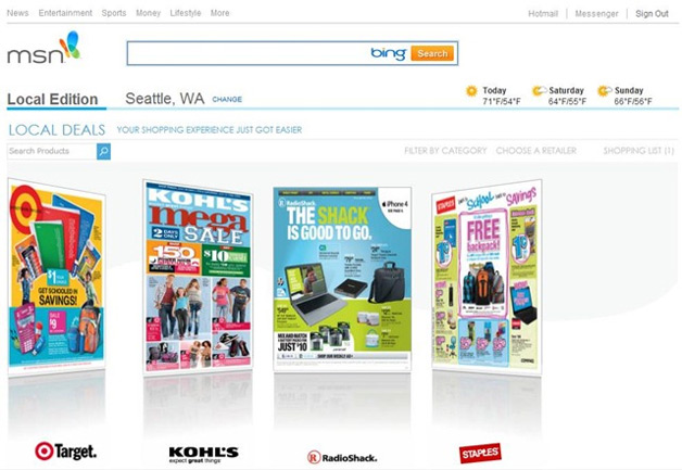 Microsoft Launches Online Circular Ads for MSN Local