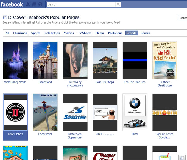 Page Discovery on Facebook