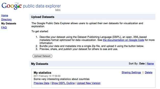 Public Data Explorer - Upload your own data