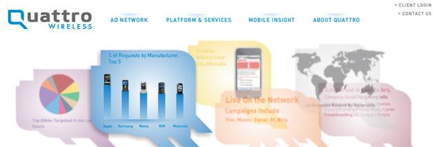 Apple Acquiring AdMob Competitor Quattro Wireless
