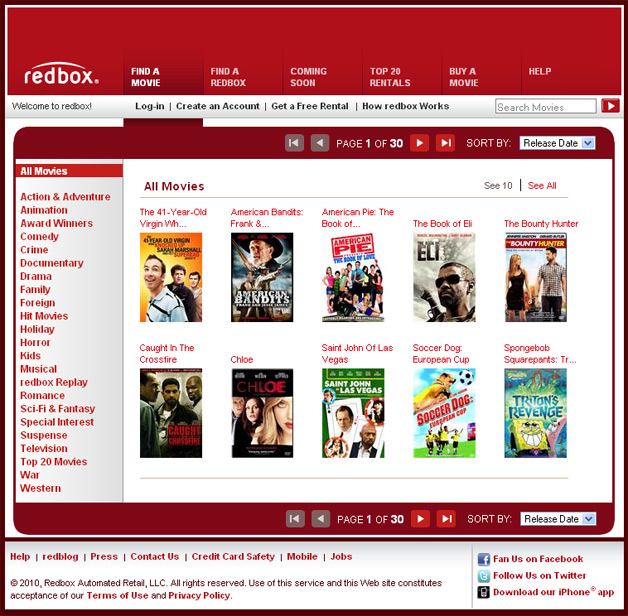 Redbox - Find a Movie (would be a lot better with streaming)
