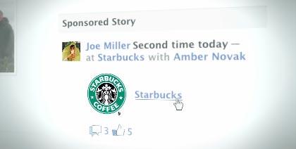 Sponsored Story for Starbucks on Facebook