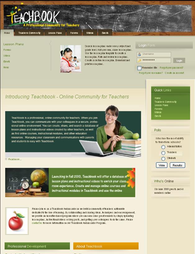 Teachbook - A professional community for teachers