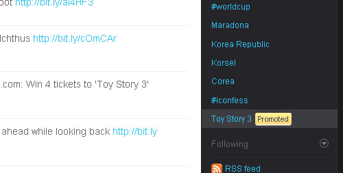 Twitter Starts Testing the Promoted Trending Topics