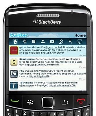 Twitter Blackberry app