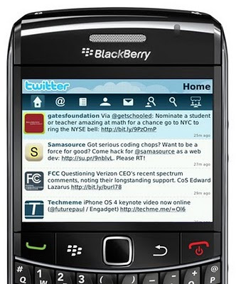 Official Twitter App for Blackberry Launched