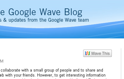 WaveThis Button on Google's Blog