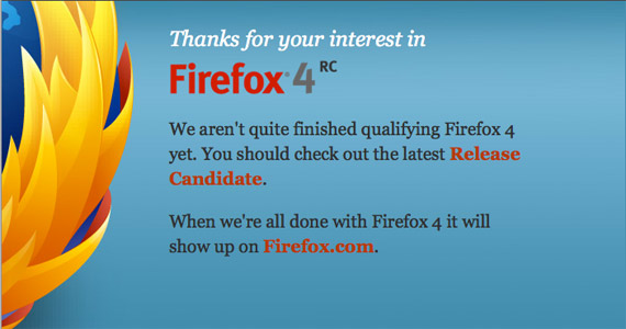 Firefox 4 Available a Day Prior To Official Release