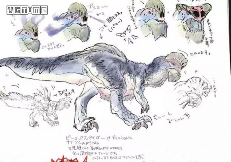 這也是蠻顎龍!?《怪物獵人 世界》蠻顎龍初期設計方案公開-趣讀